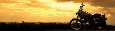 Arnold Wilbert Personalization: Motorcycle at Sunrise
